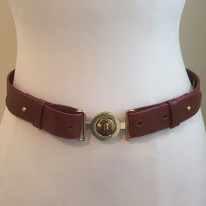Juicy Couture Leather Belt Cognac brown Small